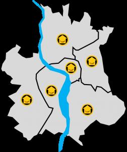 Carte Quartiers Toulousains