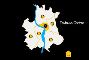 Carte Quartiers Toulouse Centre