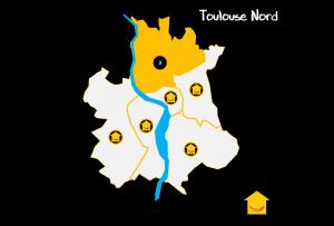 Carte Quartiers Toulouse Nord