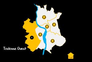 Carte Quartiers Toulouse Ouest