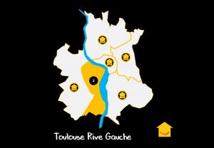 Carte Quartiers Toulouse Rive Gauche
